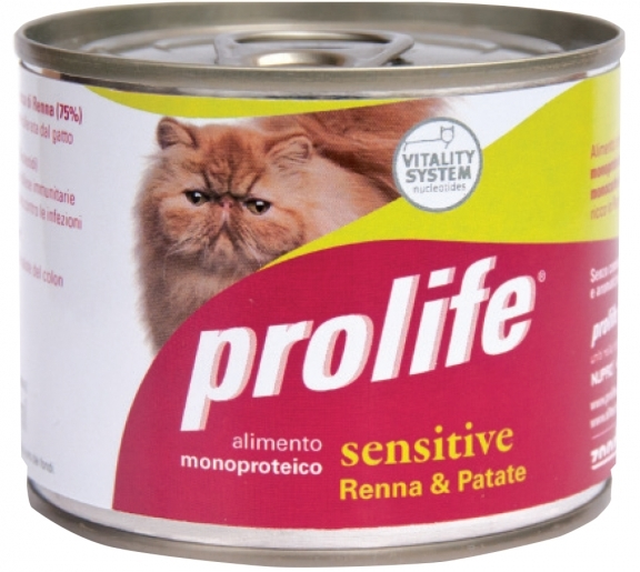 Complete pet food full of fresh salmon and rice for cats from 12 months old