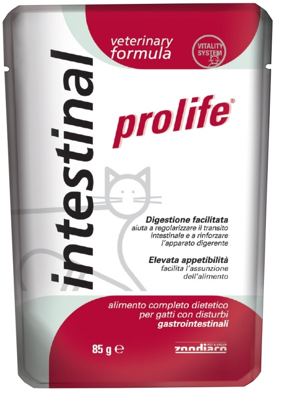 Complete dietetic pet food for cats suffering from gastrointestinal disorders.