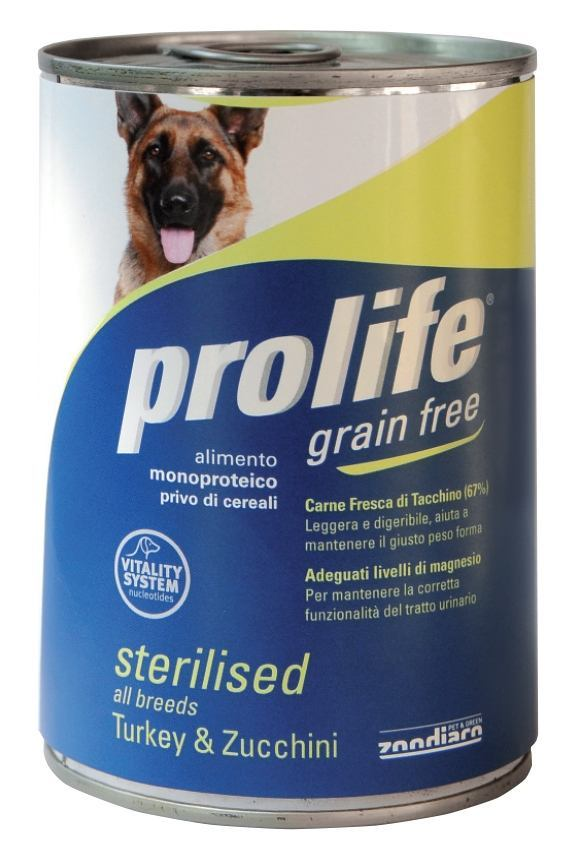 Complete food rich in fresh chicken meat with carrots for sterilised adult dogs.