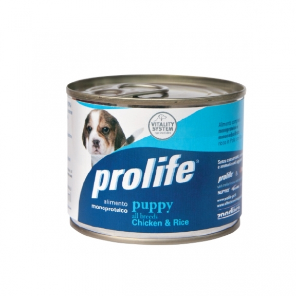 Complete pet food full of fresh rabbit with potatoes for sensitive small dogs.